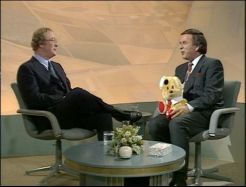 Michael Caine and Terry Wogan