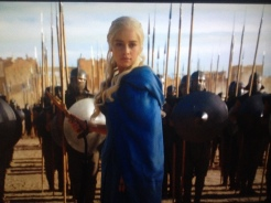 And Now His Watch Is Ended (S3 Ep4) After Daenerys revealed she spoke Valyrian, local cab drivers never took her on a long-winded route again.