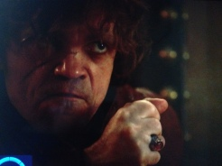 Second Sons (S3 Ep8) Tyrion joined an elite group by threatening to cut off a king's penis, but failed to use a regal enough blade.